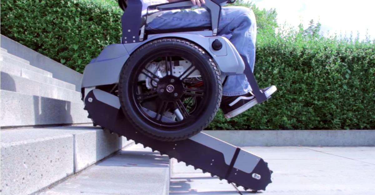 Estudiantes construyen genial silla de ruedas que permite for Silla de ruedas para subir escaleras