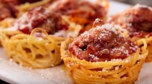 Muffins de spaghetti Portada