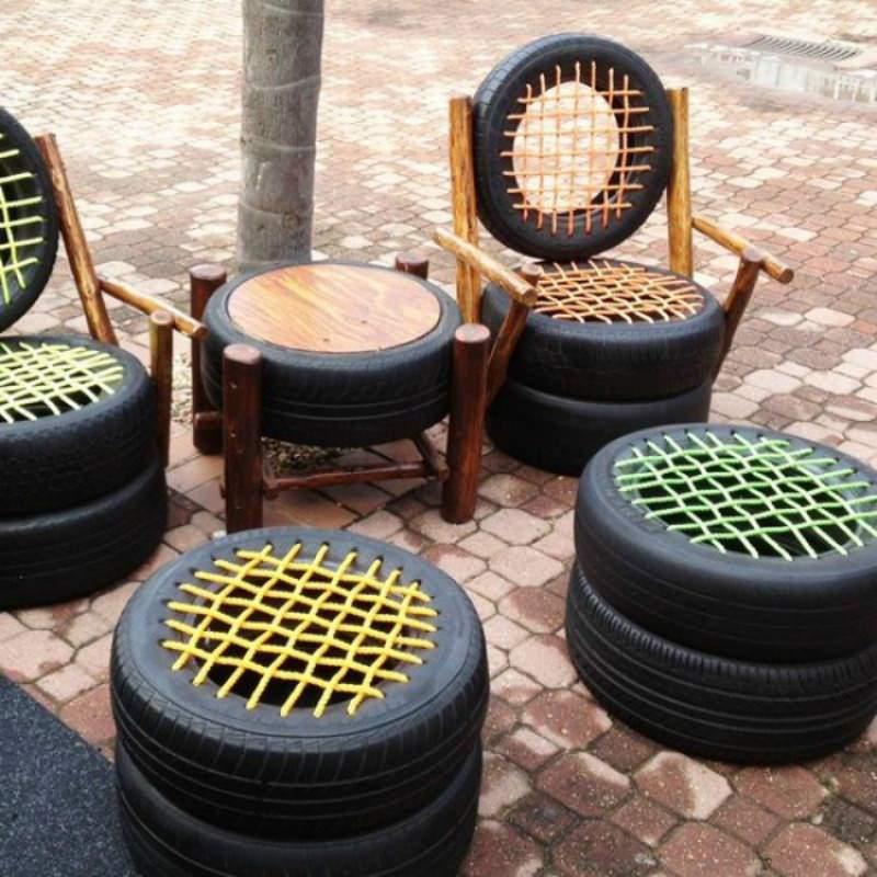 Geniales idea para reutilizar en casa esos neum ticos for Mesas con neumaticos