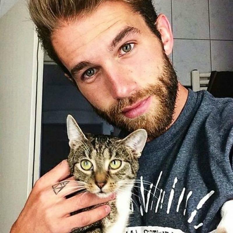 White Guy Holding Cat