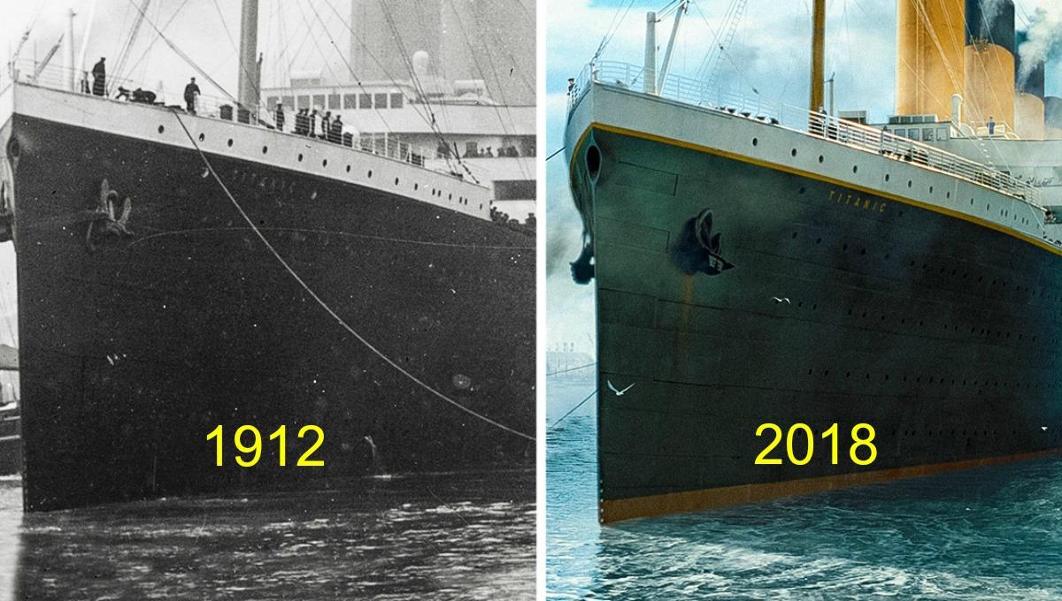 13 fotograf as que comparan al antiguo titanic con su - Construccion del titanic ...