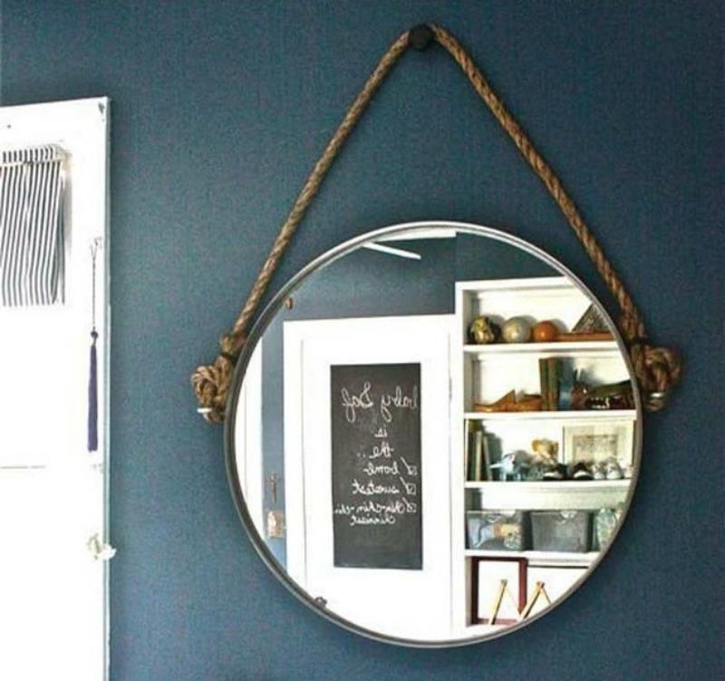 12 geniales ideas para que la sala de ba o de tu casa sea - Specchio tondo ikea ...