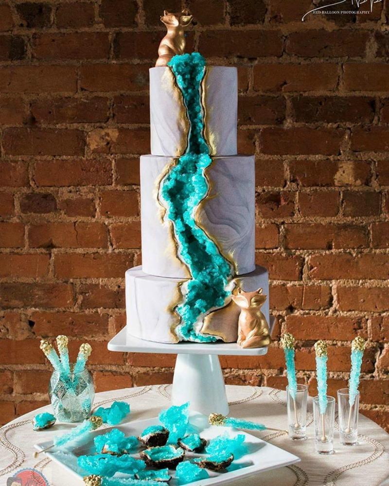 Tortas estilo geoda 5