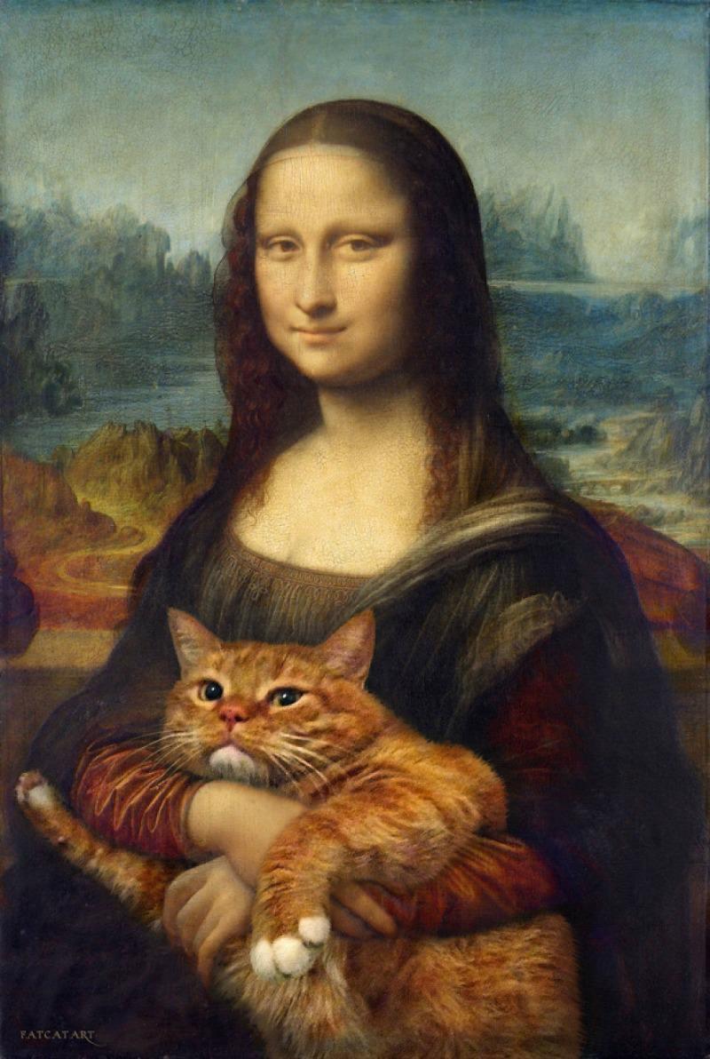 Gato artista foto 1