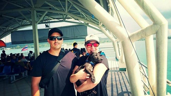 Perro rescatado en Tailandia foto 1